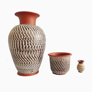 Deutsches Mid-Century Keramik Set von Alfred Krupp für Wekara, 1950er