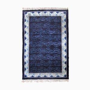 Alfombra china Art Déco de seda, años 50