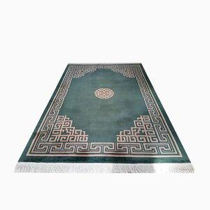 Großer dekorierter chinesischer Art Déco Teppich, 1980er