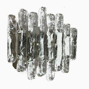Große Mid-Century Hollywood Regency Wandlampe aus Eisglas von J.T. Kalmar für Kalmar Franken KG