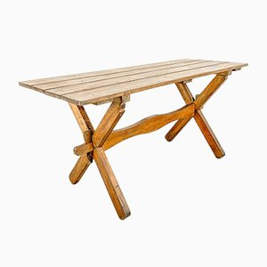 Vintage Swedish Pine Dining Table
