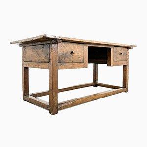 Antiker französischer Schreibtisch aus Kastanienholz