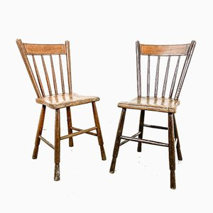 Vintage Farmhouse Chairs, Set of 2