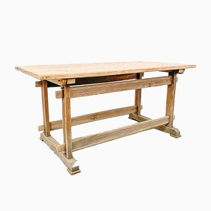 Vintage Oak & Pine Workbench