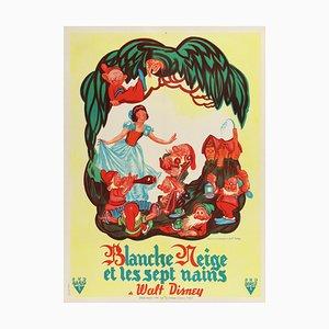 Affiche Blanche Neige et les Sept Nains par Bernard Lancy, 1951