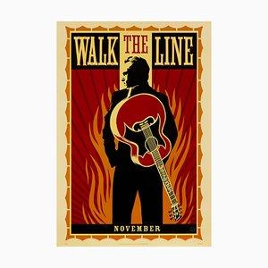 Affiche Walk the Line par Shepard Fairey, 2005