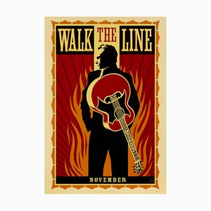 Walk The Line Poster by Shepard Fairey, 2005