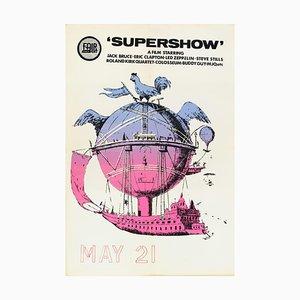 Póster del concierto Supershow, 1969