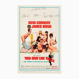 Poster You Only Live Twice di Robert McGinnis, 1967