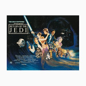 Affiche Star Wars: Return of the Jedi par Josh Kirby, 1983