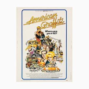 Poster American Graffiti di Mort Drucker, 1973