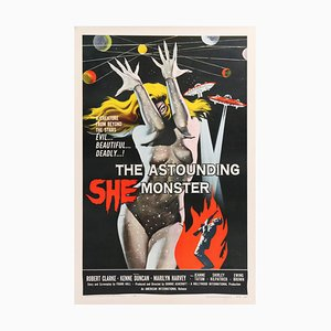 The Astounding She-Monster Poster by Albert Kallis, 1958
