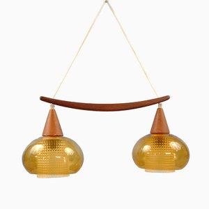 Lampada da soffitto vintage di Carl Fagerlund per Orrefors, anni '60