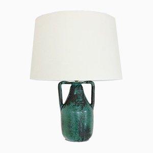 Lámpara de mesa francesa de cerámica de Primavera para CAB, años 30
