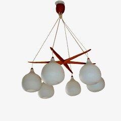 Lámpara colgante de Uno & Östen Kristiansson para Luxus, 1956