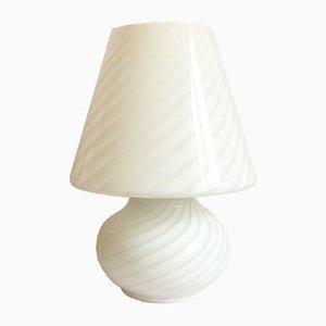 Large Italian Murano Glass Mughetto Table Lamp, 1970s