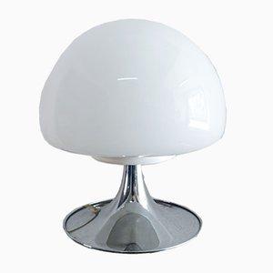 Lampada da tavolo a fungo in vetro opalino di Goffredo Reggiani per Reggiani, anni '60