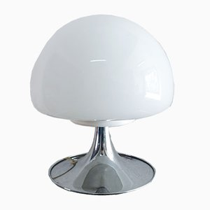 Opaline Glass Mushroom Table Lamp by Goffredo Reggiani for Reggiani, 1960s