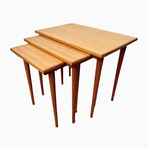 Tables Gigognes Mid-Century en Bois
