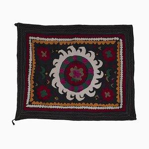 Small Vintage Handmade Samarkand Uzbek Suzani Rug, 1970s