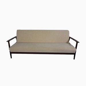 Tagesbett mit Gestell aus Teak, 1950er