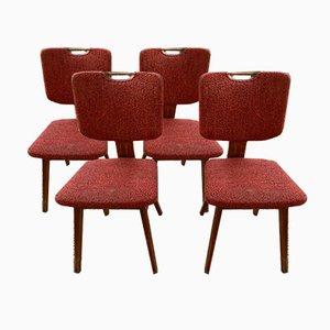 Chaises de Salle à Manger Mid-Century, Set de 4