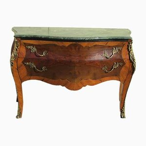 Antique Louis XV Walnut Arched & Curved Dresser
