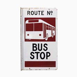 Doppelseitiges australisches Busschild aus Emaille, 1960er