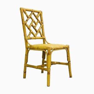 Vintage Esszimmerstühle aus Rattan, 6er Set