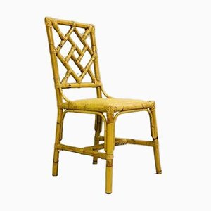 Vintage Rattan Dining Chairs, Set of 6