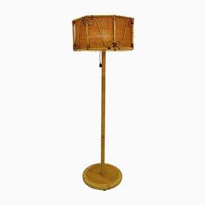 Italian Bamboo Floor Lamp, 1960s
