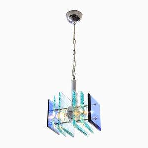 Lampada da soffitto vintage in vetro, Italia, anni '70
