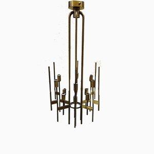 Lampada da soffitto in ottone di Stilnovo, anni '50