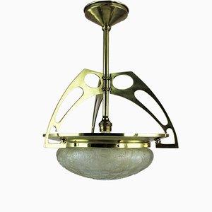 Jugendstil Deckenlampe aus Glas