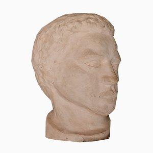 Vintage Head Sculpture by A.J.