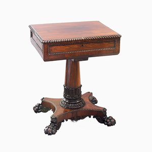 Antique William IV Rosewood Worktable by Gillows, 1830s