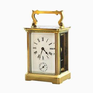 Reloj Carriage de latón con alarma de Richard & Co, década de 1880