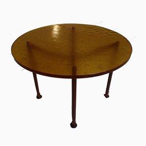 Tavolino da caffè in rame e vetro, anni '30