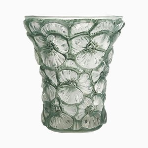 Moulded Glass Vase by Josef Inwald for Barolac, 1930s