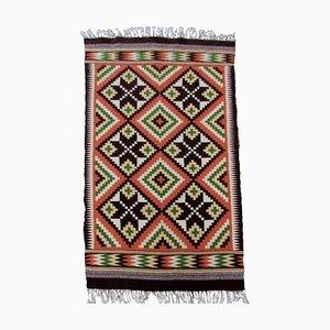 Vintage Mexican Aztec Carpet, 1970s