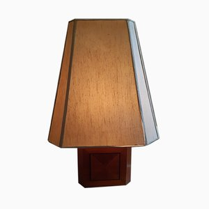 Wooden Table Lamps, 1960s, Set of 2