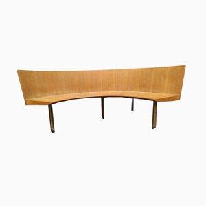 Bank aus Messing & Holz von Giulio Moscatelli, 1950er