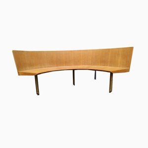 Brass & Wood Bench by Giulio Moscatelli, 1950s