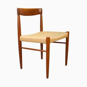 Chaises de Salle à Manger en Teck et en Corde de Papier par H. W. Klein pour Bramin, Danemark, années 60, Set de 4