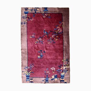 Antiker chinesischer Art Déco Teppich