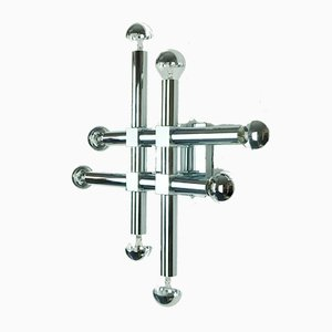 Chromed Metal 8-Arm Sconce, 1970s