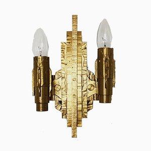 Brutalist Brass Sconce, 1960s