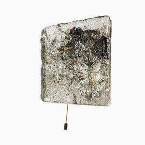 Wandleuchte aus Eisglas von J. T. Kalmar für Kalmar Franken KG, 1960er