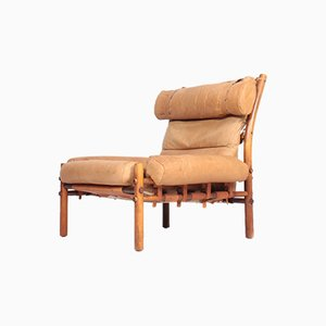 Vintage Inca Lounge Chair by Arne Norell for Arne Norell AB, 1970s