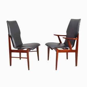 Danish Teak Armchairs, 1950s, Set of 6